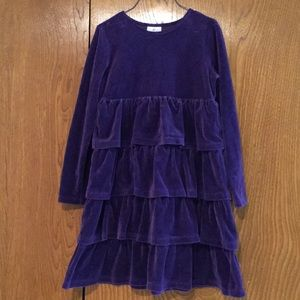 Hanna Andersson 140 Velvet Ruffle Holiday Dress
